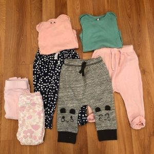 Baby girl bundle size 6-9 months